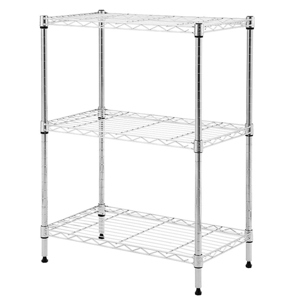 HDX Chrome Wire 3-Shelf Unit 24 in. x 14 in. x 30 in