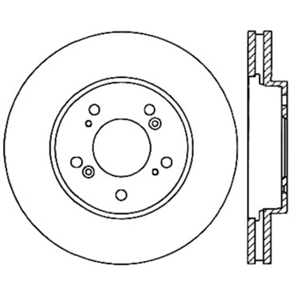 Centric Parts Disc Brake Rotor 2005-2008 Acura RL-121
