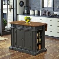 Home Styles Americana Grey Kitchen Island With Drop Leaf ...