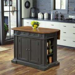 Island Tables For Kitchen Sink Black Carts Islands Utility Dining Room Furniture Americana Grey With Drop Leaf