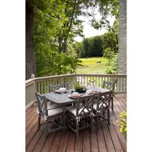 Polywood Chippendale Slate Grey 7-piece Plastic Outdoor