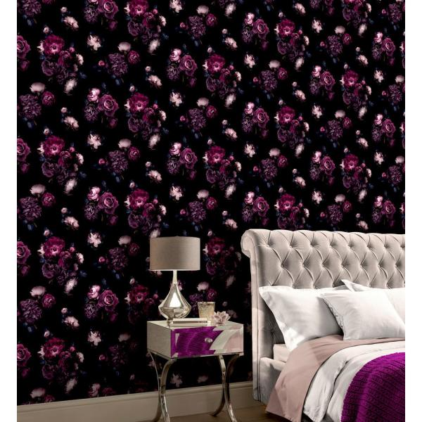 Arthouse Euphoria Plum Paper Strippable Roll Covers 55 Sq Ft 697500 The Home Depot