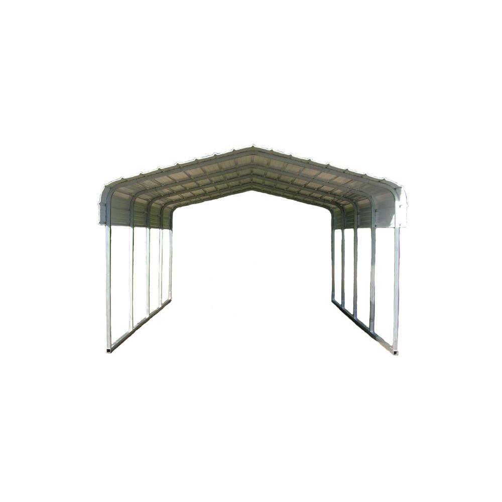 Versatube 12 Ft W X 20 Ft L X 7 Ft H Steel Carport Cm012180070w