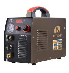 lotos 50 amp compact inverter plasma cutter for metal dual voltage 110 220v  [ 1000 x 1000 Pixel ]