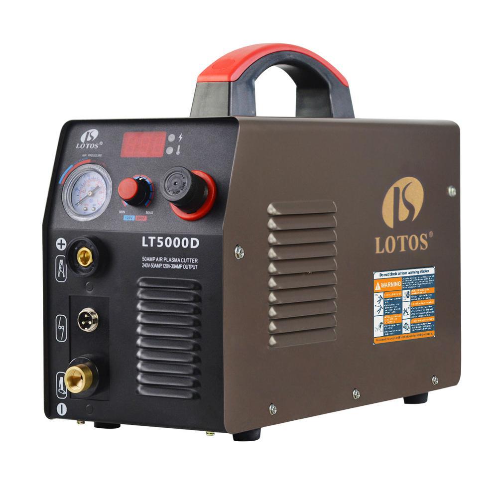 medium resolution of lotos 50 amp compact inverter plasma cutter for metal dual voltage 110 220v