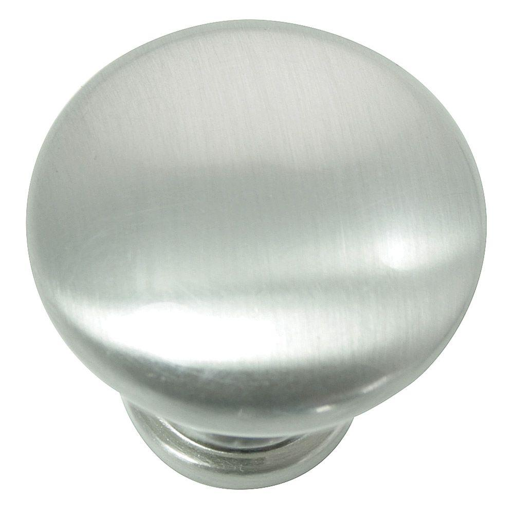 Laurey 1.38 in. Brushed Satin Nickel Knob-54628 - The Home Depot