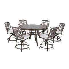 High Top Table Chair Set Toilet Accessories Bar Height Patio Dining Sets Furniture The Home Depot Ridge