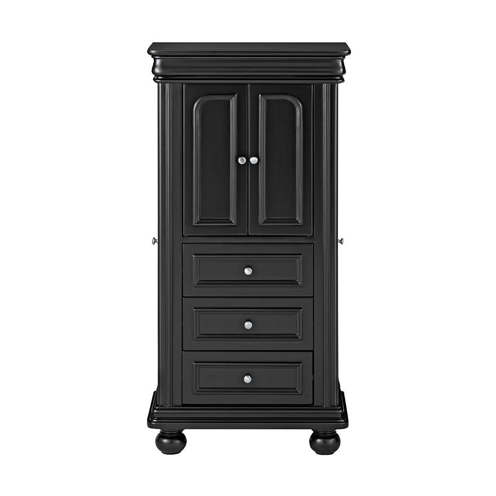 Home Decorators Collection Genevieve Black Jewelry Armoire9833600200  The Home Depot