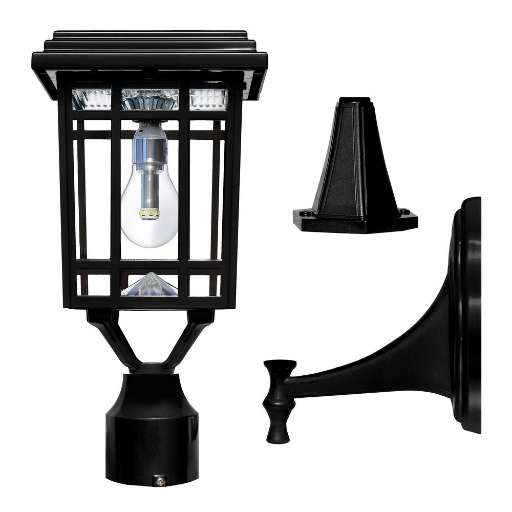 hight resolution of solar post light lantern wall mounting fitter outdoor non electrical wiring