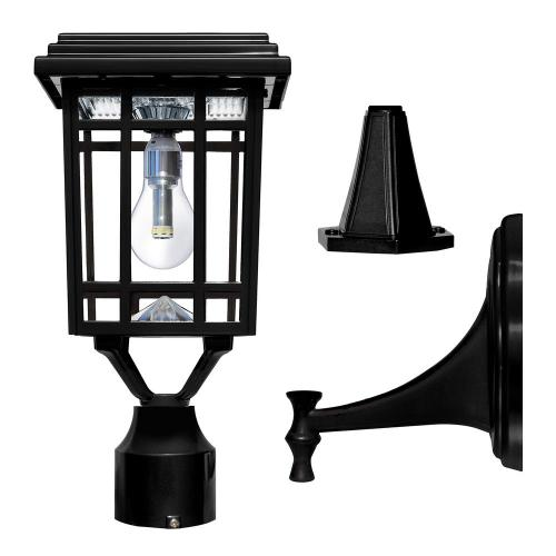 small resolution of solar post light lantern wall mounting fitter outdoor non electrical wiring