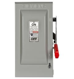 siemens heavy duty 30 amp 240 volt 3 pole outdoor fusible safety switch with [ 1000 x 1000 Pixel ]