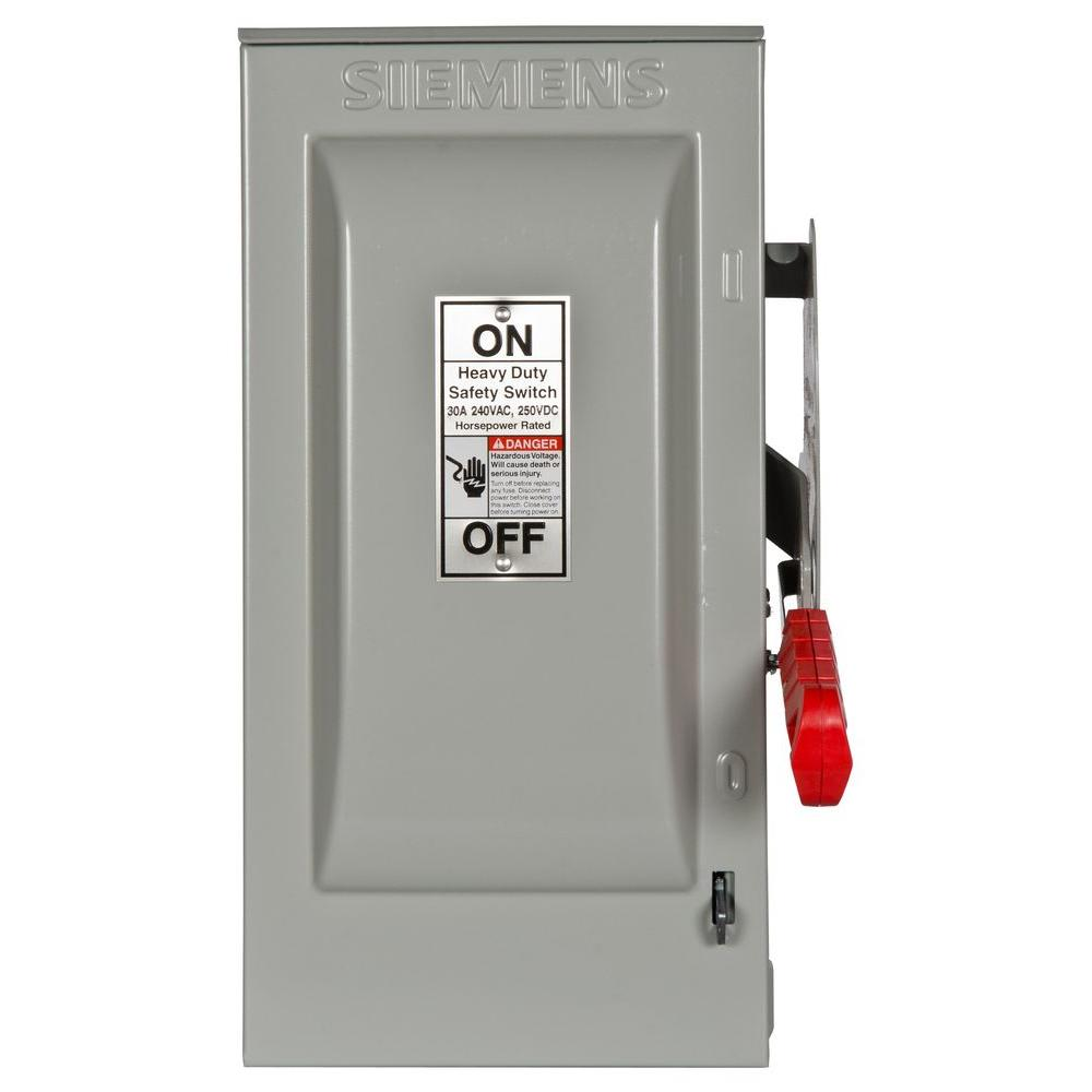 medium resolution of siemens heavy duty 30 amp 240 volt 3 pole outdoor fusible safety switch with