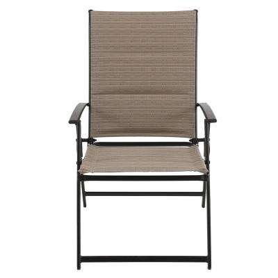 patio folding chair stress free chairs furniture the home depot mix and match steel outdoor dining in cafe sling 2 pack