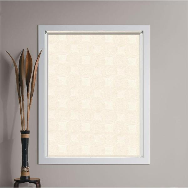 Bali Cut-size Woven Taupe Cordless Decorative Room Darkening Vinyl Roller Shade - 33.25 In