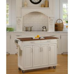 Kitchen Towel Bars Table Counter Height Home Styles Create A Cart White With Bar 9200