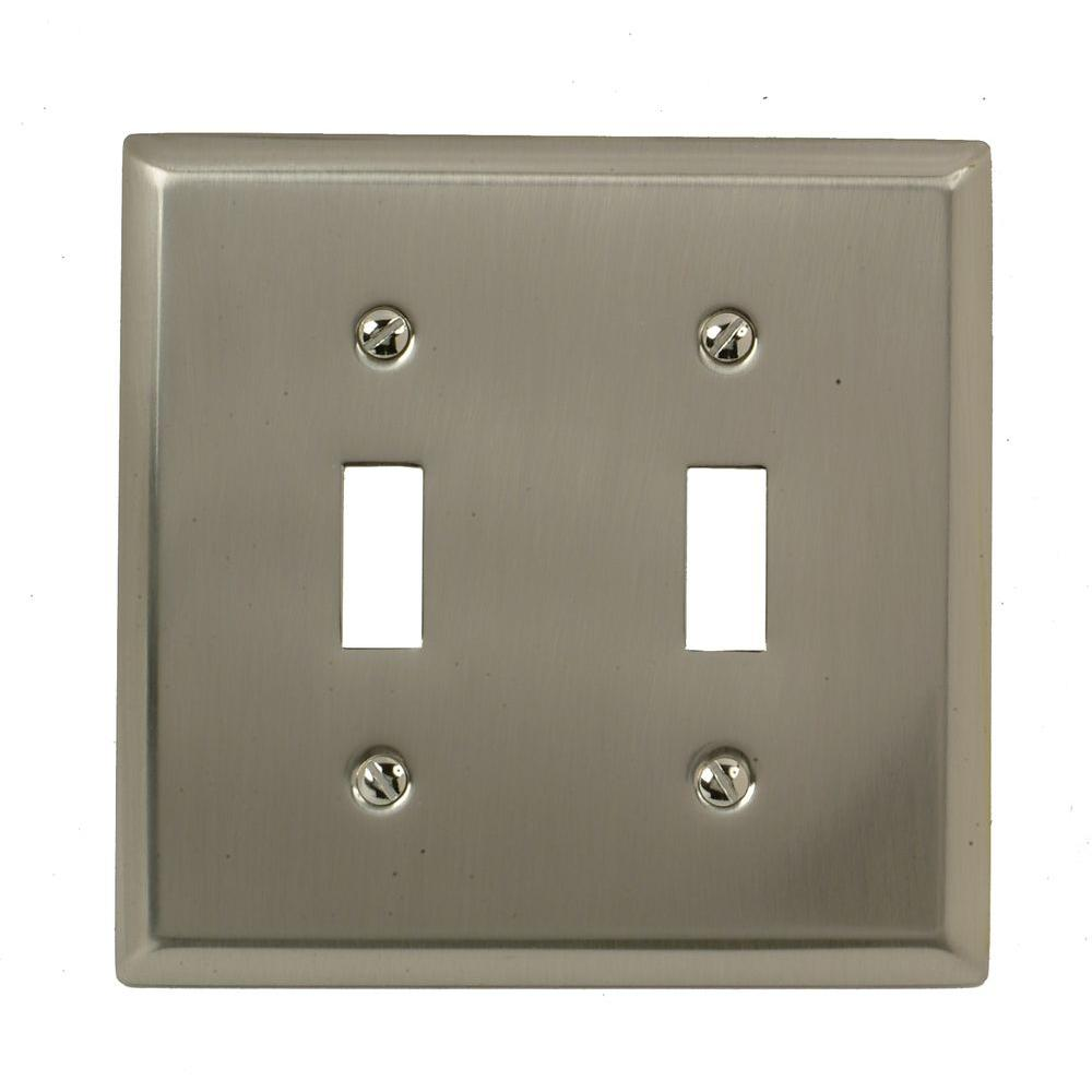 Amerelle Madison 2 Toggle Wall Plate