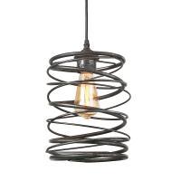 LNC 1-Light Black Contemporary Spiral Pendant-A03292 - The ...