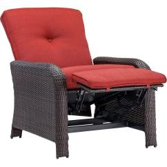 Wicker Reclining Patio Chair Blue S Clues Thinking Theme Song Hanover Strathmere Crimson Red Outdoor Arm