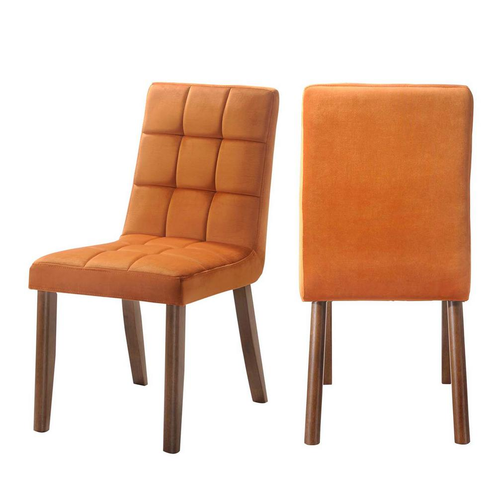 orange side chair baby bouncy chairs argos rosie tufted set in drb500tscog the home depot