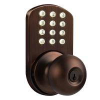MiLocks Keyless Oil Rubbed Bronze Entry Door Knob-TKK-02OB ...