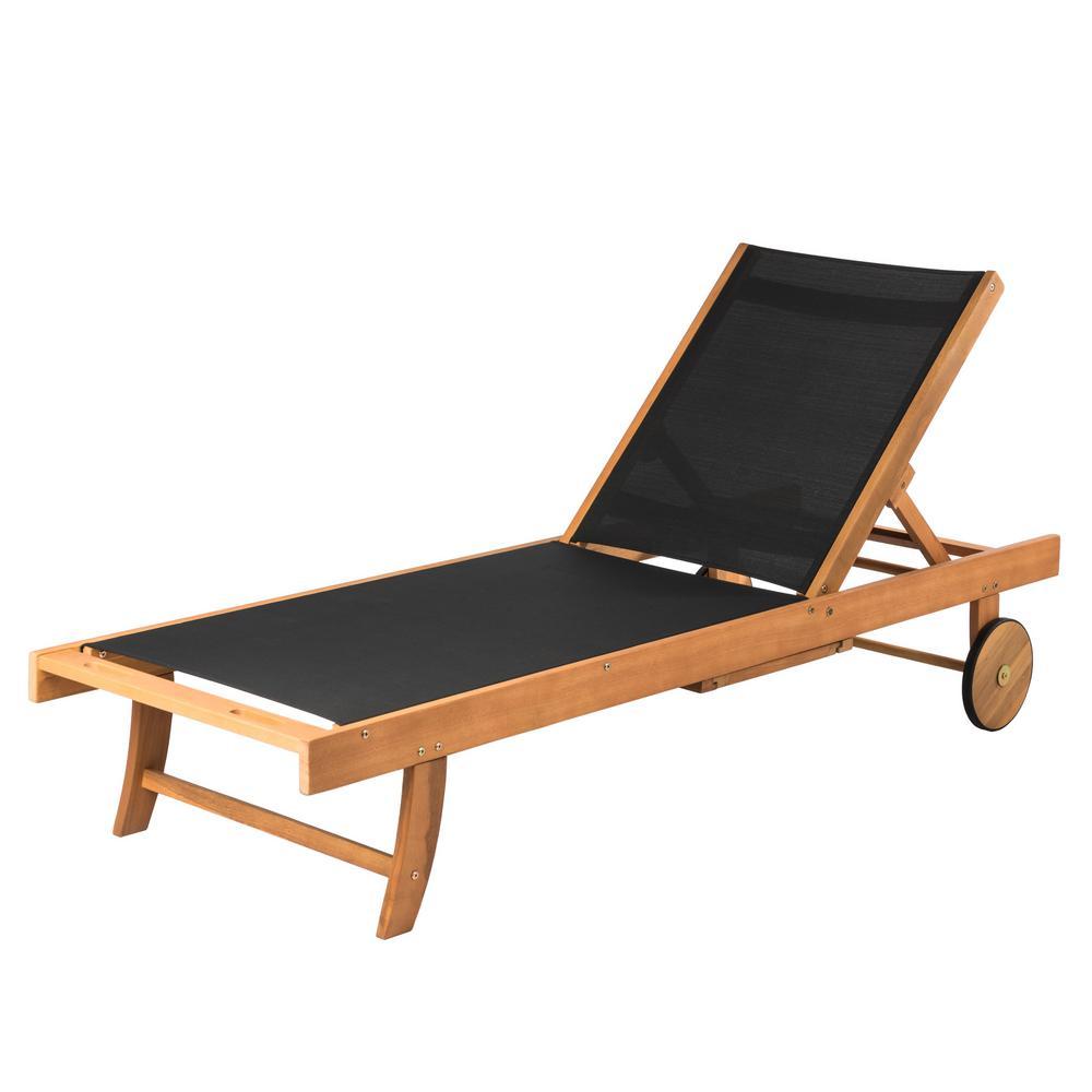 wood lounge chair outdoor swing nilai 3 patio sense sanur sun natural adjustable in black