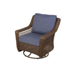 Wicker Swivel Patio Chair Punisher Skull Adirondack Pattern Hampton Bay Spring Haven Brown All Weather Outdoor Rocking With Sky