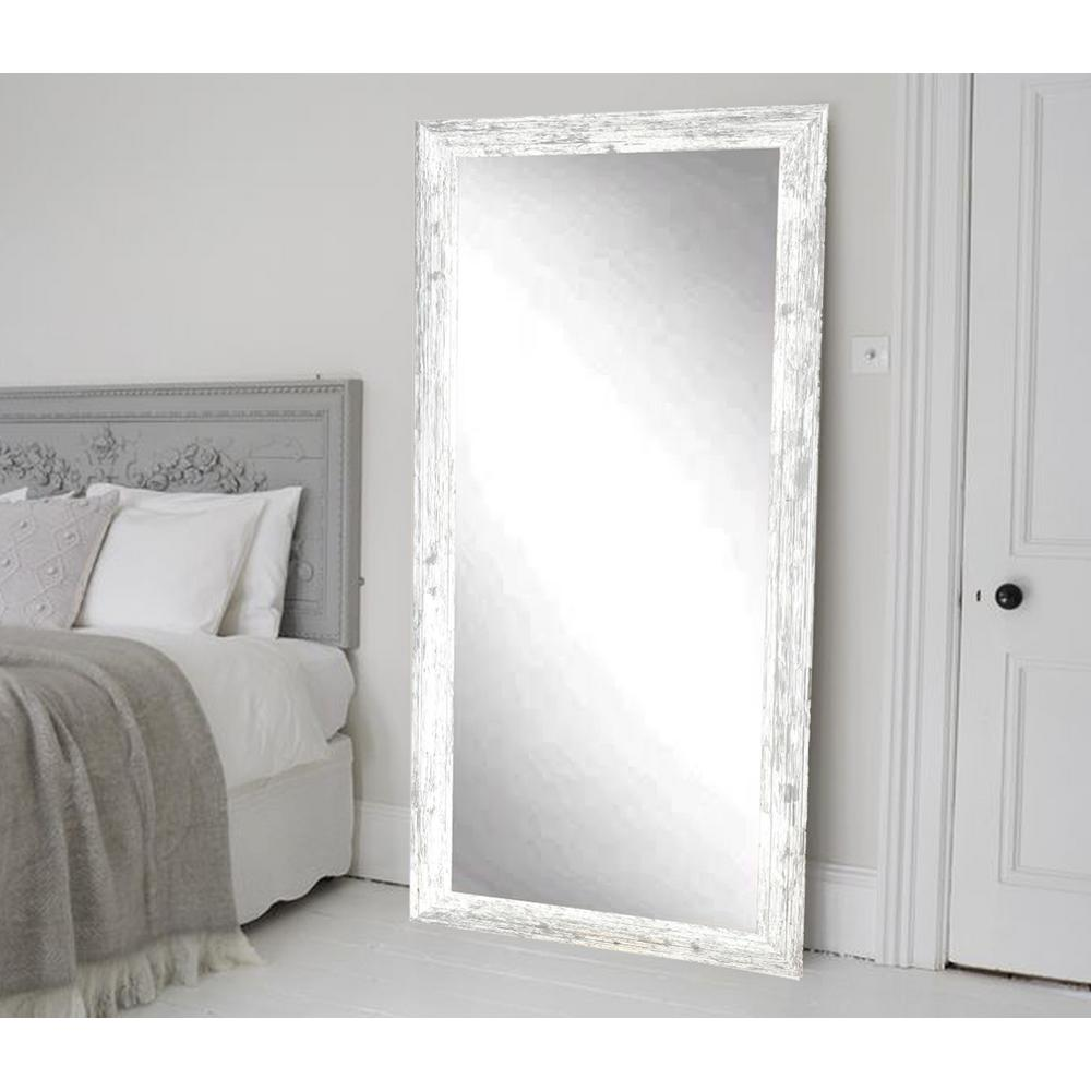 Distressed White Barnwood Full Length Floor Wall MirrorBM032TS  The Home Depot