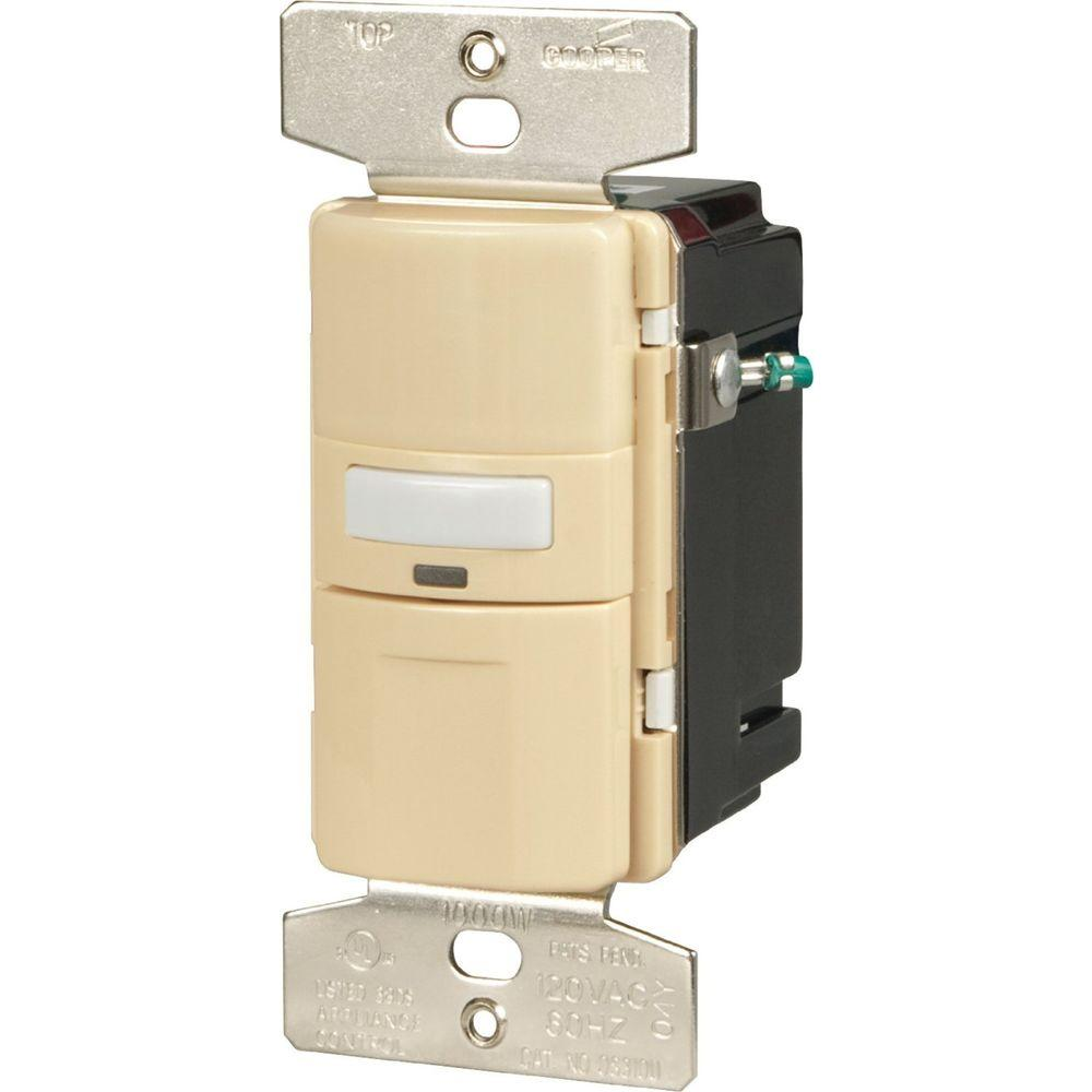 hight resolution of eaton motion activated vacancy sensor wall switch ivory