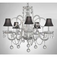 Empress 5-Light Crystal Chandelier with Black Shades and ...