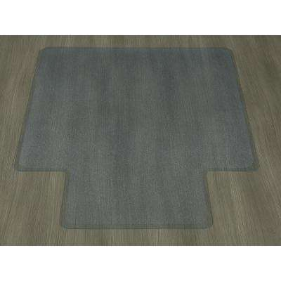 clear chair mat kelly revolving waterproof mats the home depot hard floor 36 in x 48 with lip vinyl