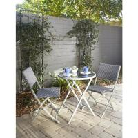 Cosco Delray Transitional 3-Piece Steel Blue & Gray Woven ...