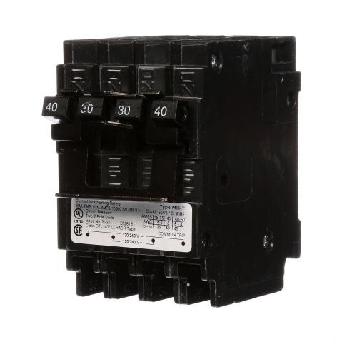 small resolution of quadplex one outer 40 amp double pole and one inner 30 amp double pole circuit breaker