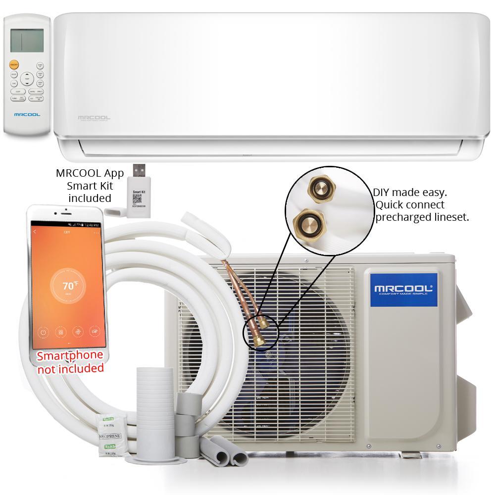 hight resolution of mrcool diy 18 000 btu 1 5 ton ductless mini split air conditioner and heat pump 230
