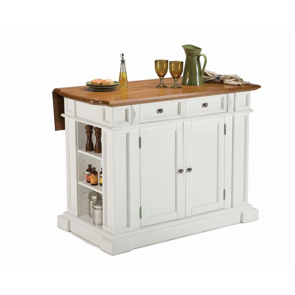 Home Styles Americana White Kitchen Island With Drop Leaf 5002 94
