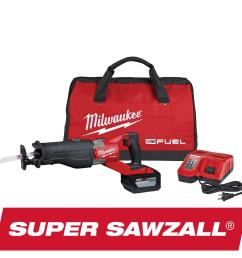 milwaukee m18 fuel 18 volt lithium ion brushless cordless super sawzall orbital reciprocating saw [ 1000 x 1000 Pixel ]