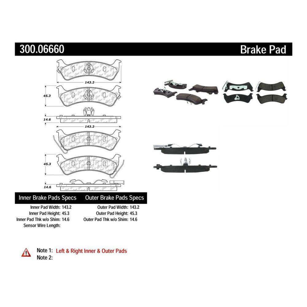 Centric Disc Brake Pad Set 1998 Jeep Grand Cherokee-300