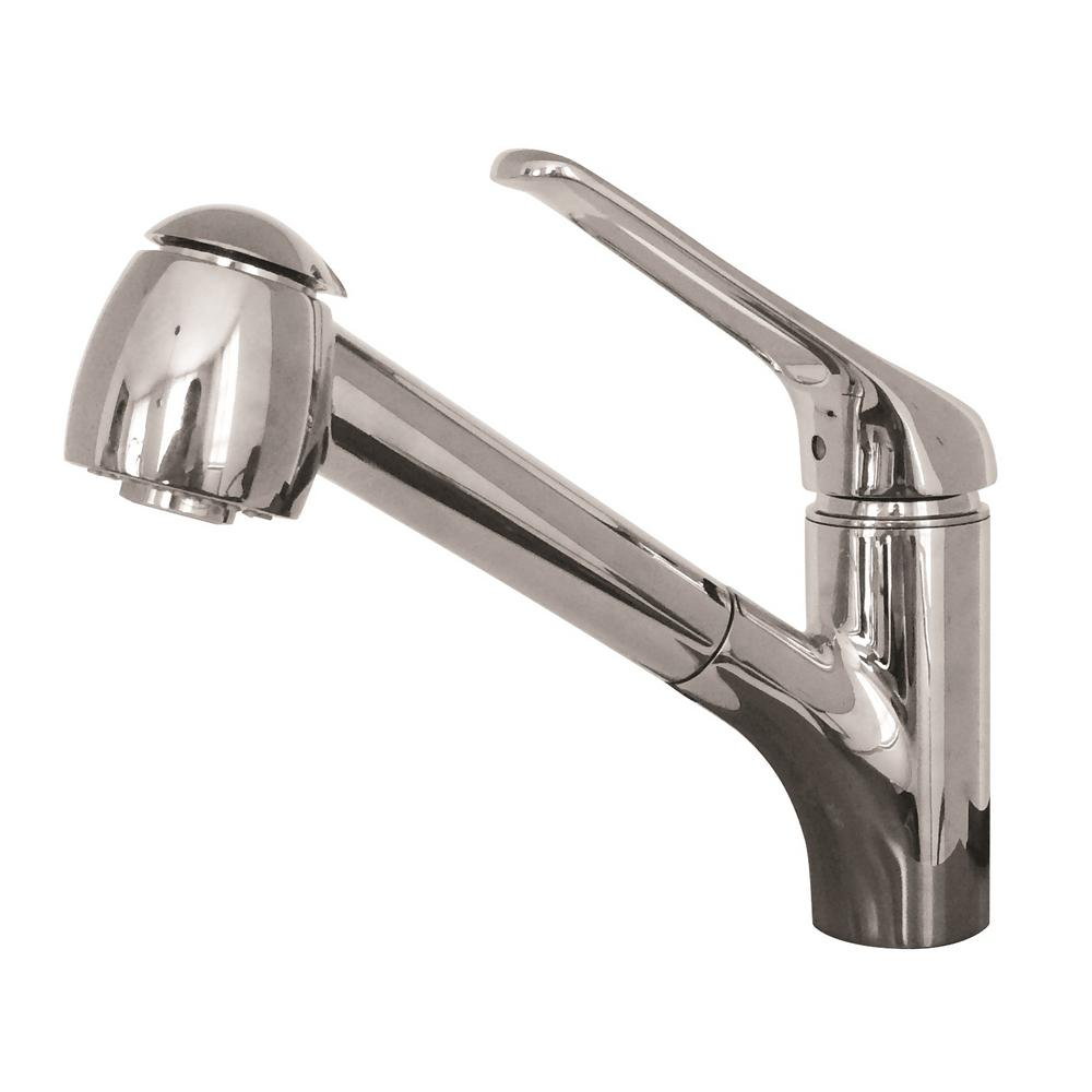 franke kitchen faucet silver aid faucets the home depot valais single handle pull out sprayer with water saver in chrome