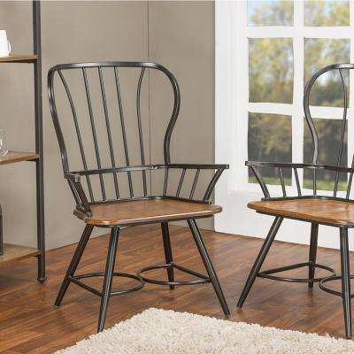 rustic metal dining chairs great northern chair company black arm kitchen room