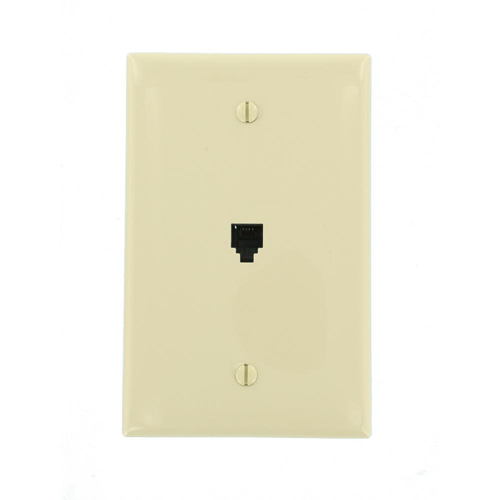 hight resolution of midway 6p4c telephone wall jack ivory