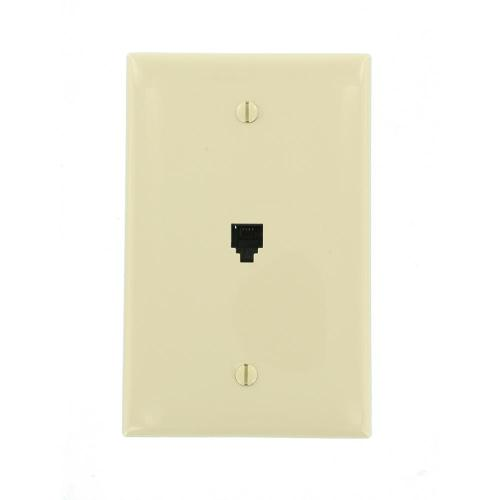 small resolution of this review is from midway 6p4c telephone wall jack ivory