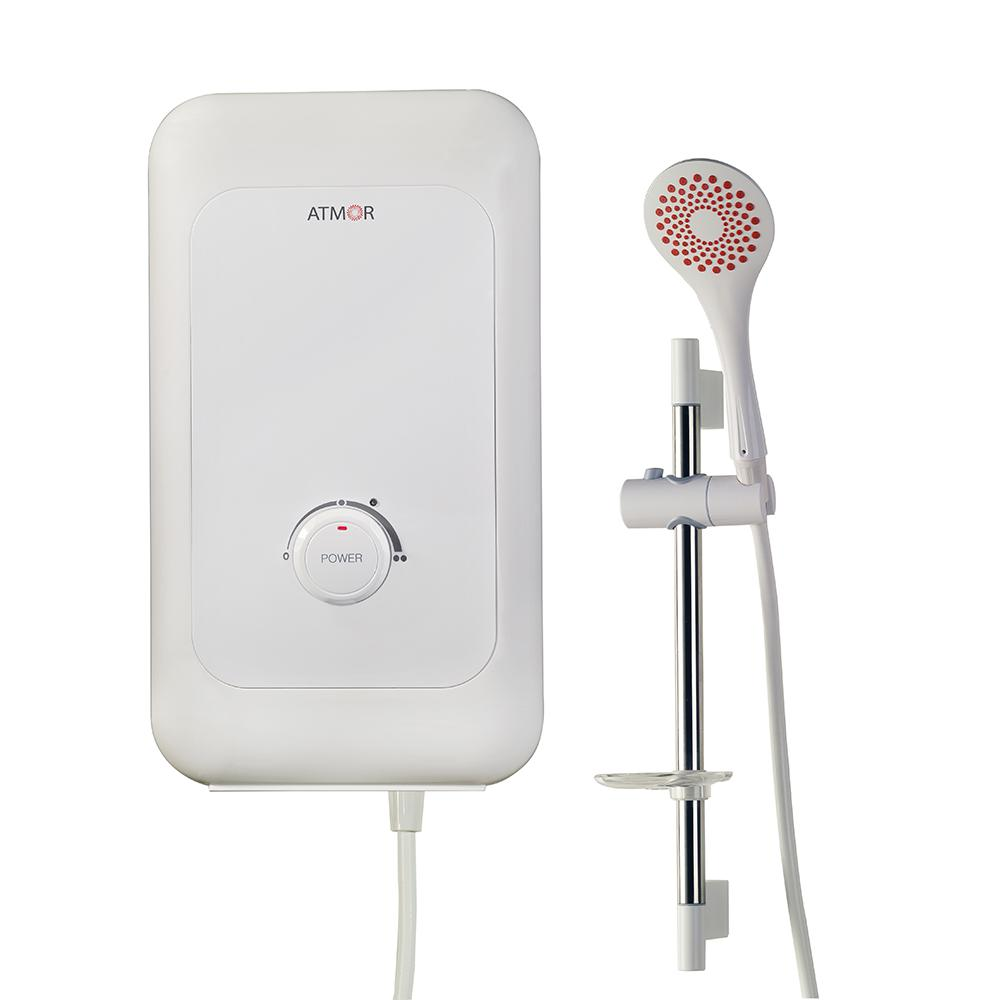 hight resolution of atmor 6 kw electric tankless water heater shower system
