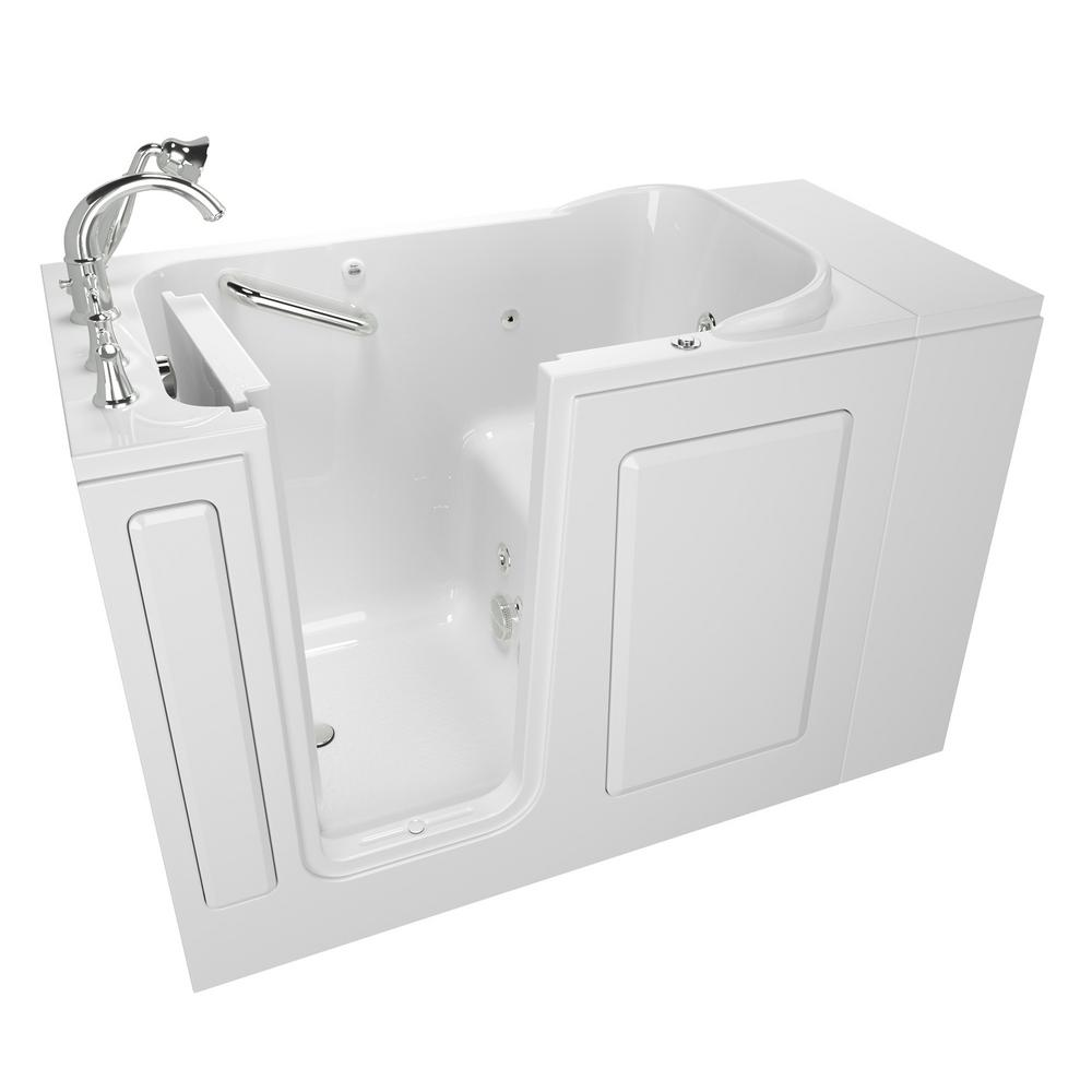 American Standard Exclusive Series 48 in x 28 in Left Hand WalkIn Whirlpool Tub with Quick