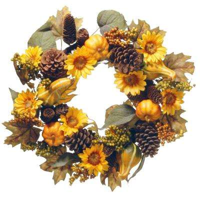 22 in wreath with