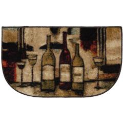 Wine Kitchen Rugs Glass Tiles And Glasses Brown 18 In X 30 Slice Rug 323240 The