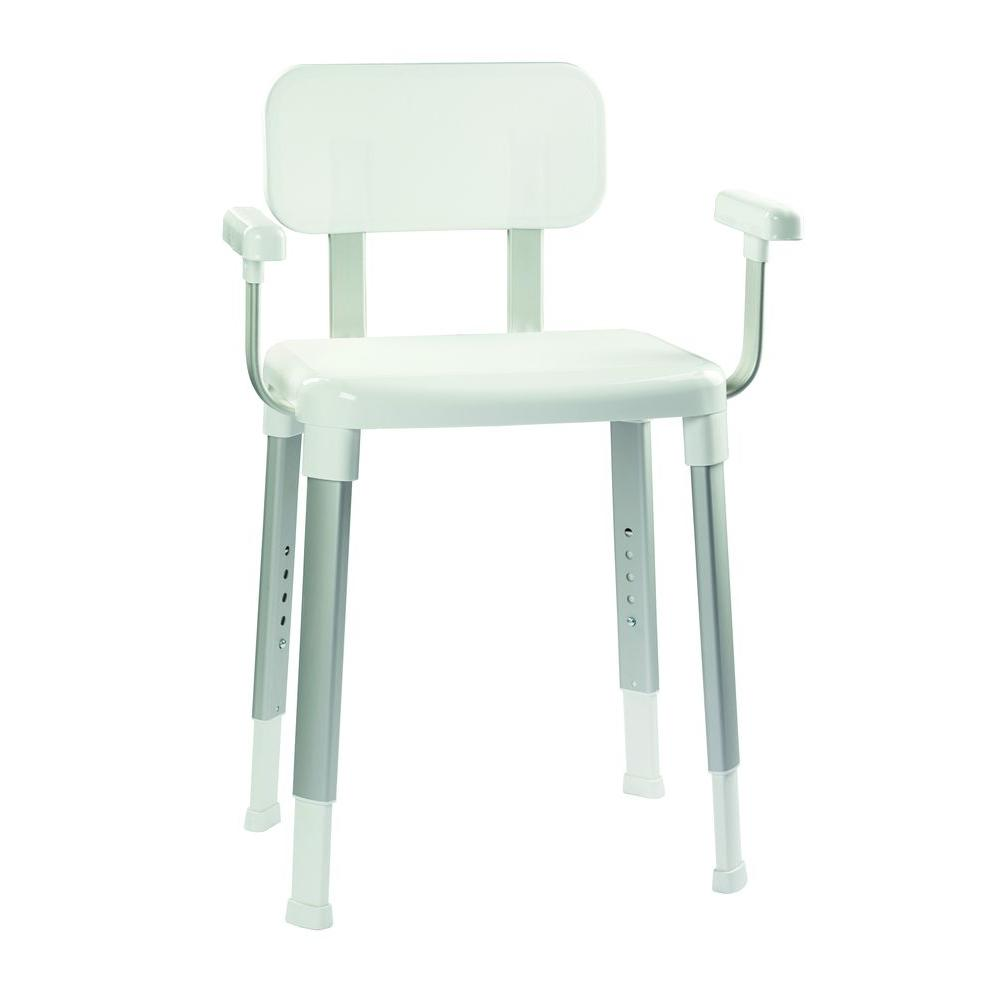 shower chair with back and armrests porch rocking chairs made in usa croydex adjustable seat arms white ap130422yw the