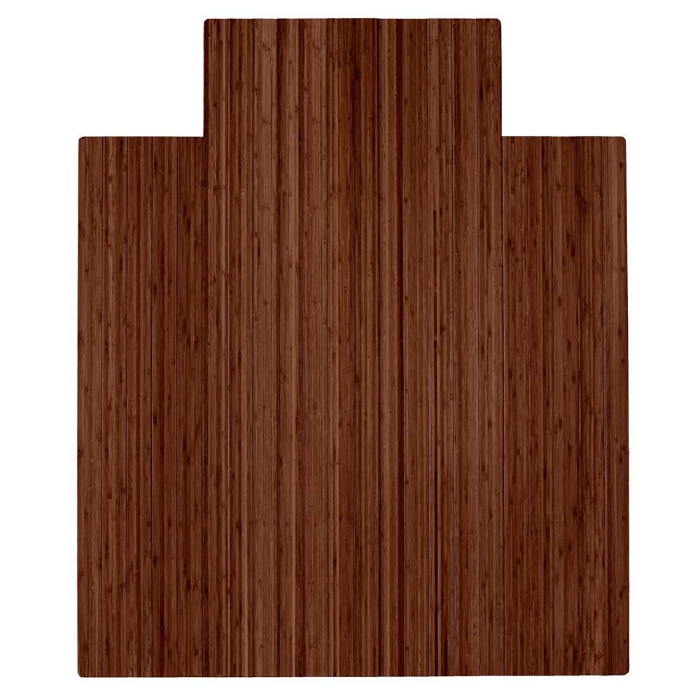 chair mat home depot purple bows anji mountain walnut 44 in x 52 bamboo roll up with