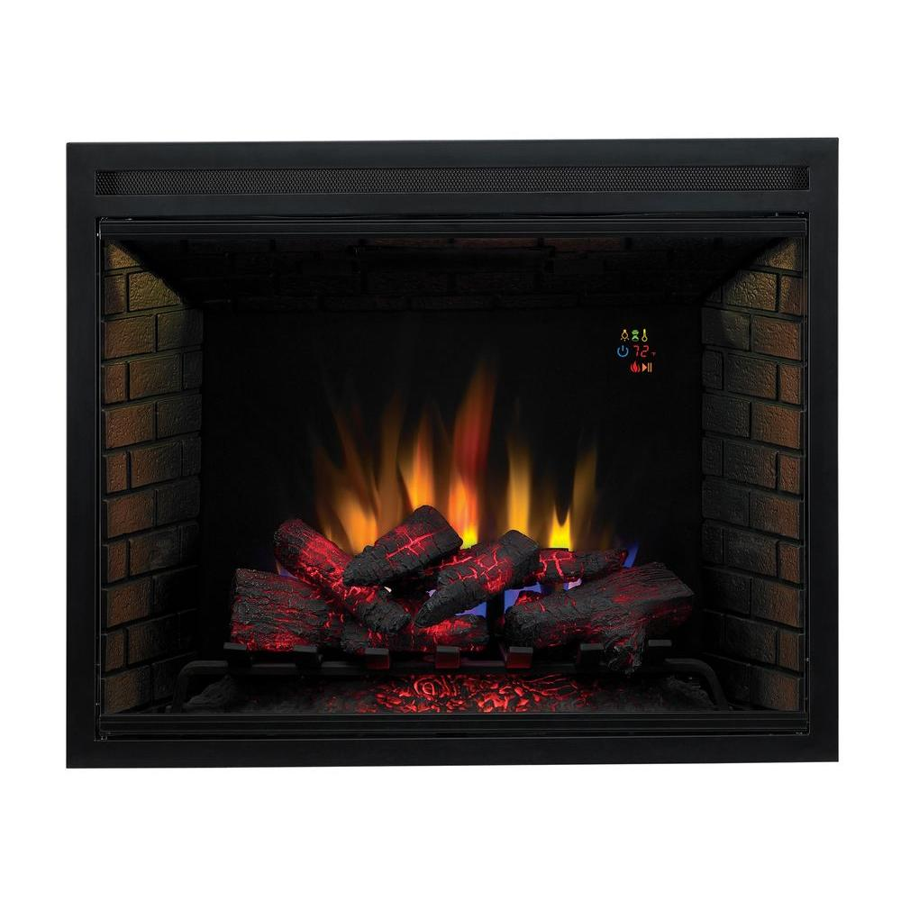 medium resolution of traditional built in electric fireplace insert