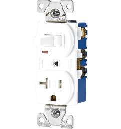 15 amp 120 volt 5 15 3 wire combination receptacle and toggle switch [ 1000 x 1000 Pixel ]