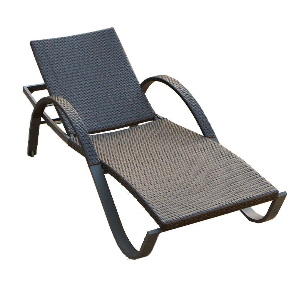 RST Brands Deco Stacking Patio Lounge ChaiseOPPEALDECO