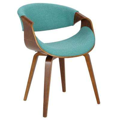 upholstered arm dining chair bauhaus and ottoman upholstery chairs kitchen curvo bent wood walnut teal accent